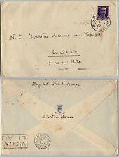 REGIA NAVE BOLZANO-50c(251) IMPERIALE busta(della nave) per La Spezia 28.10.1940