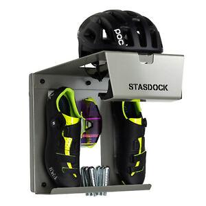 Stasdock BICYCLE WALL MOUNT Helmet Shoe & Bicycle Storage System : DEEP SILVER