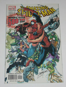 AMAZING SPIDER-MAN 500 NM 9.4  J Scott Campbell anniversary cover 2003