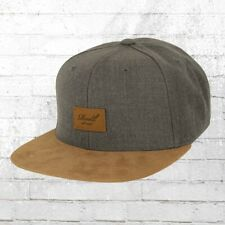 Reell Suede Cap Snapback Kappe grau melange Mütze Basecap Haube Cappy Capi Hat