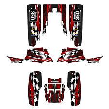 Yamaha Banshee 350 graphics full coverage kit #3500 Red