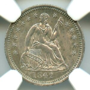 1842 Liberty Seated Half Dime, NGC MS64+, CAC Approved!