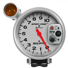 "AutoMeter 3911 Sport-Comp Silver Electric 5"" Tachometer w/ Shift-Lite 0-10k RPM"