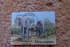 Briefmarke aus der Republik du Benin - Elefant