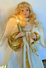 Vintage Christmas Telco Motionette Angel Light Up Candle Animated Moves 2'