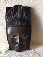 Vintage Wooden Mask Indonesian Deity Hard Wood Heavy Mask