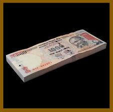 India 1000 (1,000) Rupees x 100 Pcs Bundle, 2013 P-107g Letter L New Symbol Unc
