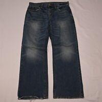 American Eagle 32 x 30 Bootcut Medium Wash Distressed Denim Jeans