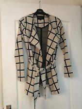 BNWT Ladies Beige/Black Check Jacket By River Island (Size 6)