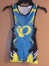 Pearl Izumi Elite Womens Tri Singlet In-R-Cool Cycling Jersey Sc Blue/Yellow