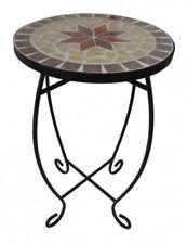 Mosaik Blumenhocker Blumenständer Mosaiktisch Beistelltisch Hocker Metall rund