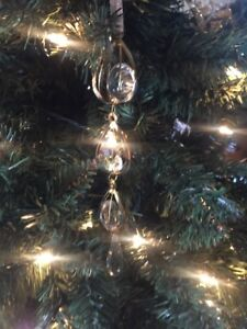 """New Kurt Adler 9"""" Gold Clear Faux Crystal Icicle With Drop Christmas Ornament!"""