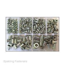 Assorted M3, M4, M5, M6, M8 & M10 Metric Zinc Plated Nutsert Rivnut Rivet Nuts