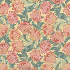 1 y Art  Nouveau Tulip Clusters Cotton Fabric Revive  Timeless Treasure BFab