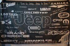 JEEP History Brand Car Truck Flag Banner Man Cave Garage Shop 3x5 Feet