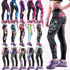 donna yoga palestra pantaloni corsa sport Leggings Fitness Jogging elasticizzati