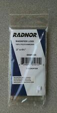 """Radnor 2"""" x 4-1/4"""" Polycarbonate Magnifier Lens 2.5 Diopter"""