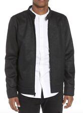 NEW TUNELLUS Black Moto Collar Zip Front Jacket L.     0610