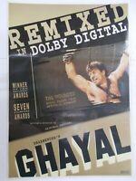 GHAYAL 1990 SUNNY DEOL MEENAKSHI SESHADRI  Rare Poster Bollywood Film India