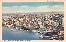 Washington postcard Seattle, Aeroplane View