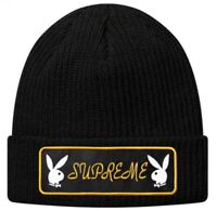 Supreme Playboy Patch Beanie Black FW16