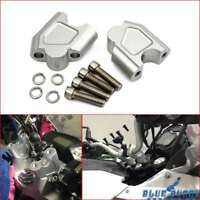 Motorcycle Silver HandleBar Riser Bar Clamp Adapter For Suzuki SV650 ALL YEARS
