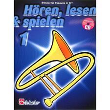 Hören lesen und spielen Band 1 - Schule für Posaune in C (Baßschlüssel) (+CD)