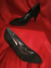 Ladies Black Suede Court shoes size 7 high heel