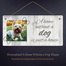 A Home Without A Dog Cat Is Just A House Metal Hanging Plaque Gift Sign Pet Love