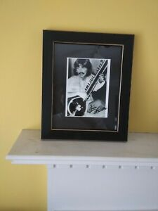 "George Harrison -""Lou Harrison"" Signed Sitar photo."