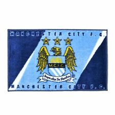 Official Manchester City FC Club Crest Floor Rug 80cm X 50cm