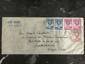 1946 Accra Gold Coast Cover to Leopoldville Belgian Congo  Missionary