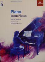 PIANO EXAM 2017-2018 Grade 6 ABRSM*