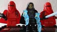 Star Wars Force Awakens Emperor Darth Sidious & 2 Guards Free lego Gun UK STOCK