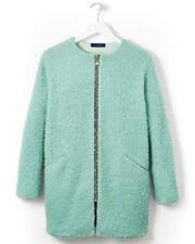 Cotton Edits Wool Blend Boucle Coat Green Dusk Size UK 18 rrp £80.00 SA171 VV 01