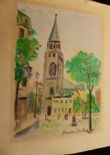 Maurice UTRILLO (1883-1955) French original plate signed rare lithograph, Paris