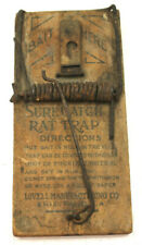 """Rare 7"""" Antique Sure Catch Rat Trap Lovell Manufacturing Co. Erie PA USA"""