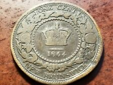 1864 New Brunswick, Canada Large Cent     L01C    F611