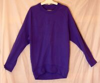 Girls Converse Purple Embossed Logo Fronted Sweater Jumper Age 11-12 Years