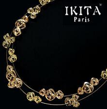Luxus Statement Halskette IKITA Paris Kette Collier Rosa Kollier Blume
