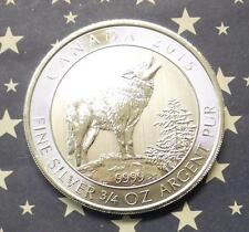 2015 Canada Gray Wolf $2 Silver Coin, 3/4oz .9999 Fine Canadian Silver Coin