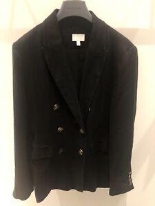 Witchery Black Linen Blazer Jacket Size 14