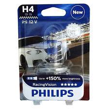 Philips H4 Racing Vision Rally Autolampe Scheinwerfer Birne bis 150% mehr Licht