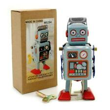 "TIN TOY ROBOT 4.5"" Wind Up Blue Litho Retro Collectible Cute Mini Radicon MS294"
