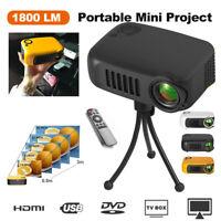 Portable Mini Projector HD 1080P Home Theater Cinema USB HDMI SD AV 5000 Lumens