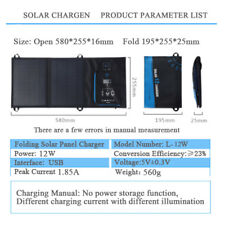 21W 18W 15W 12W 5V Folding Solar Panel Charger for Iphone Android with Display