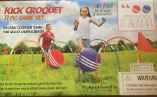 Giant Kick Croquet Game Set | Includes Inflatable Croquet Balls, Wickets &