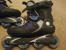 Velocity K2 Inline Skates Rollerblades Blue Black exotech Women's 10 sze impulse