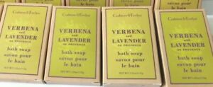 4 X Crabtree And Evelyn wholesale Joblot Verbena and Lavender Soap 35g Boxed