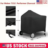 For Weber 7152 Black Grill Cover Protective for Performer Charcoal BBQ Barbeque